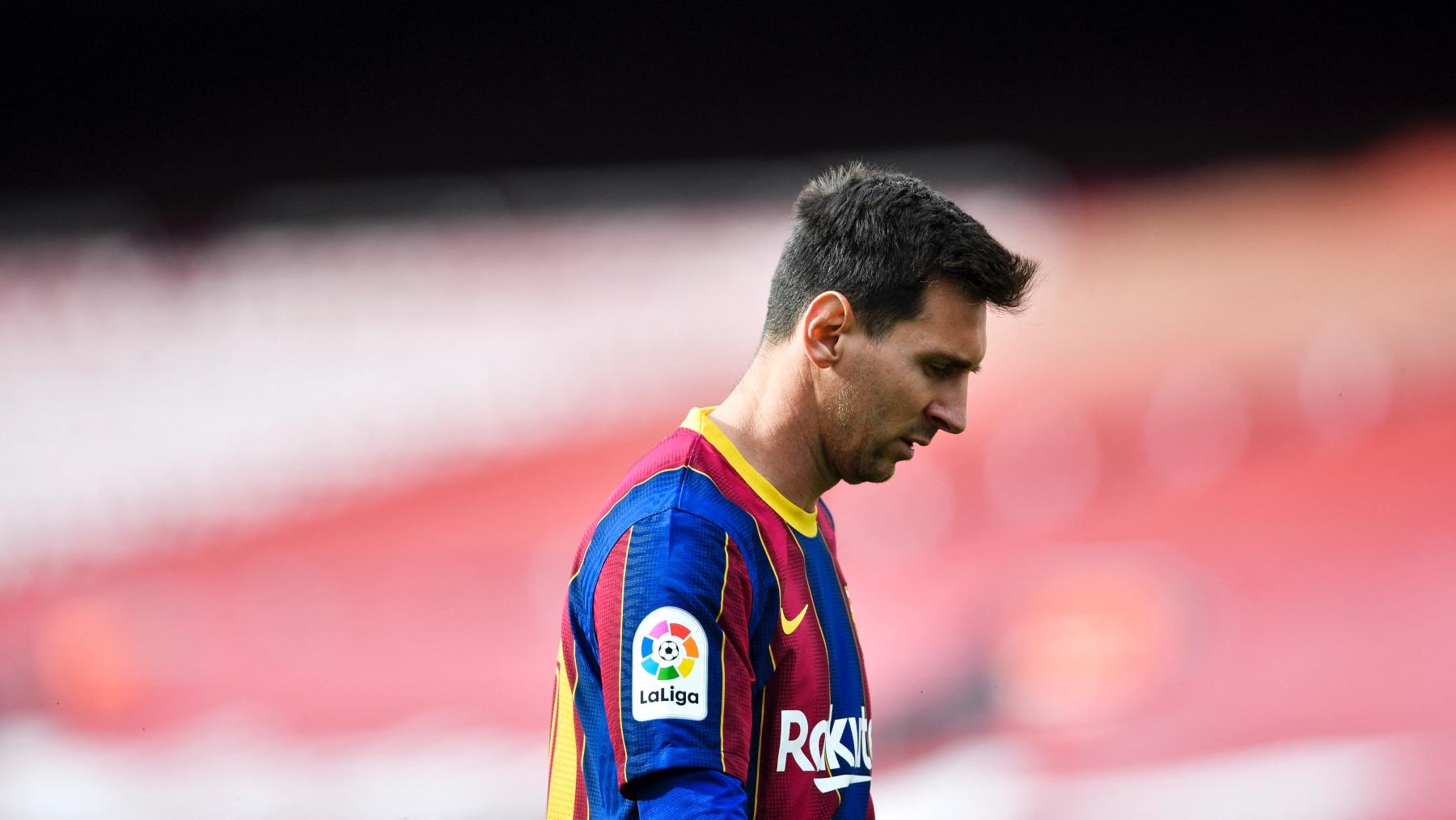 Leo Messi, en uno de sus últimos partidos con el Barça. (AFP)