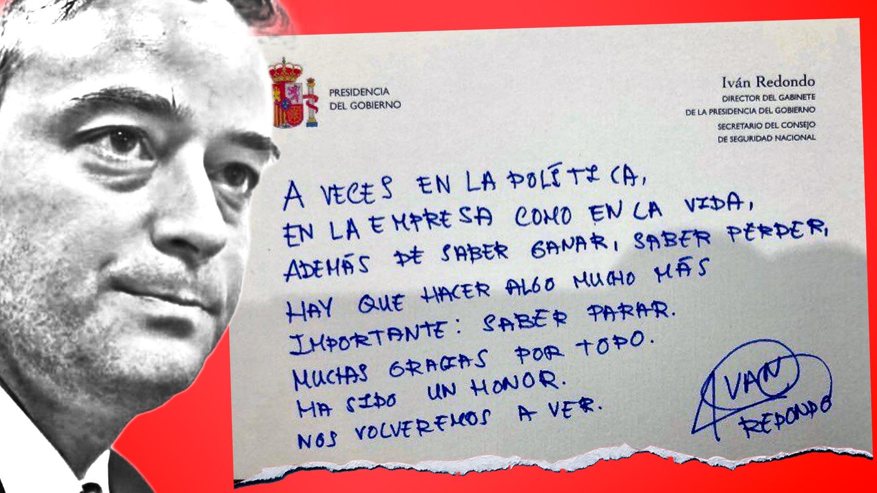 Iván Redondo y su mensaje de despedida