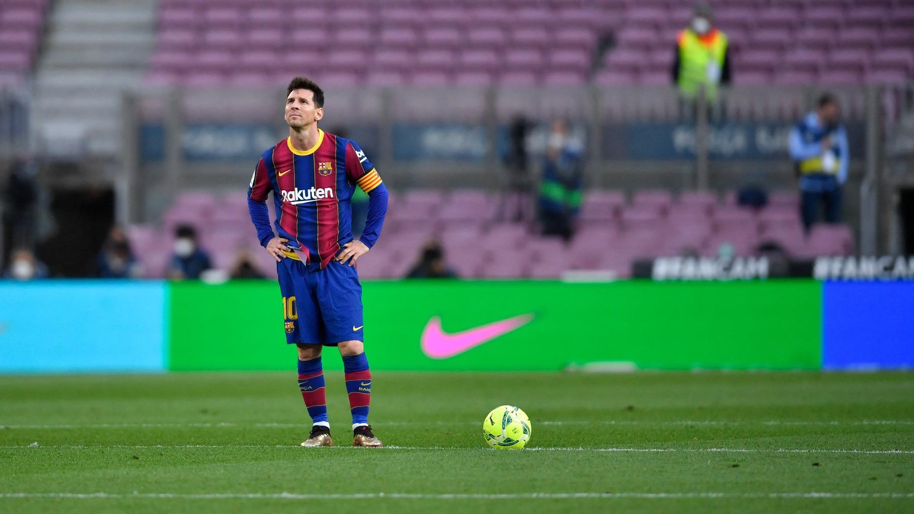 Messi, en su último partido con el Barcelona. (AFP)