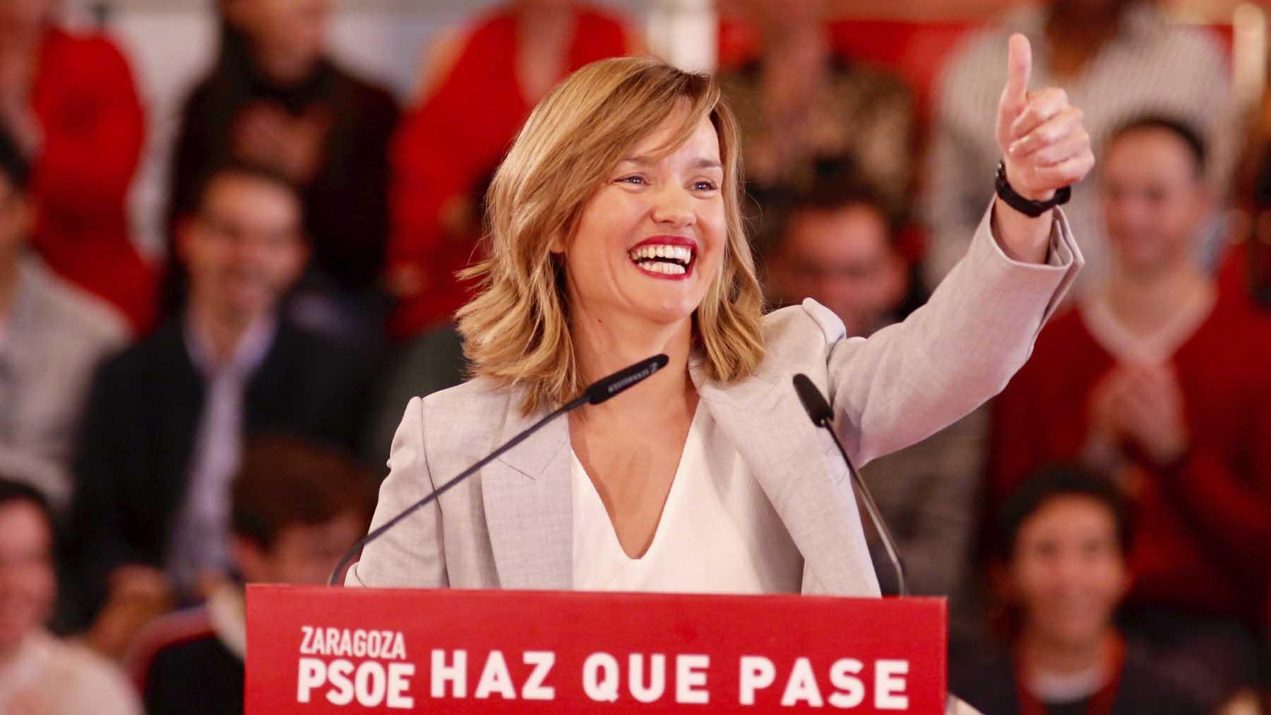 La nueva ministra de Educación, Pilar Alegría. Foto: Europa Press.