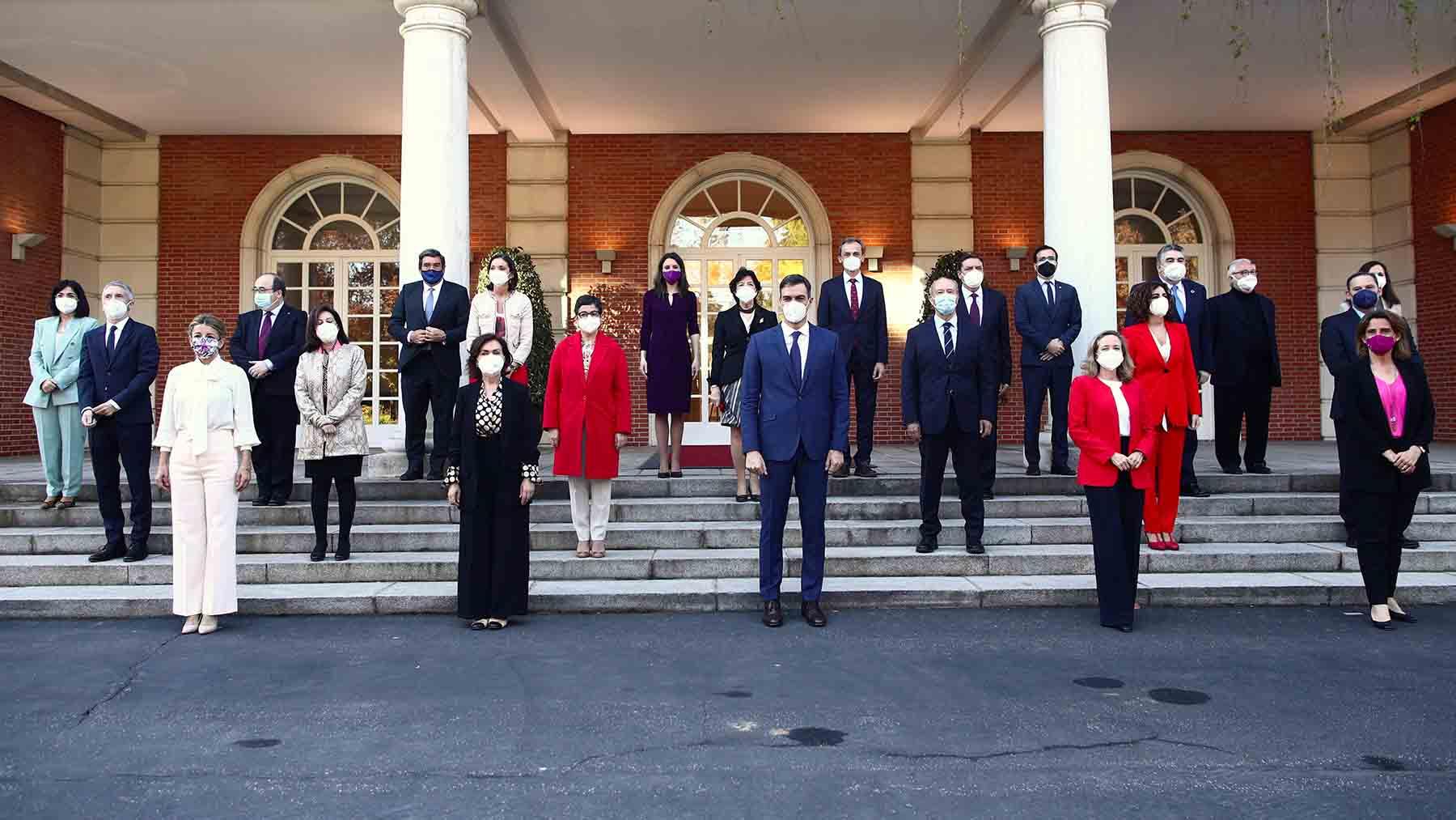 Última foto de familia del Gobierno de Pedro Sánchez