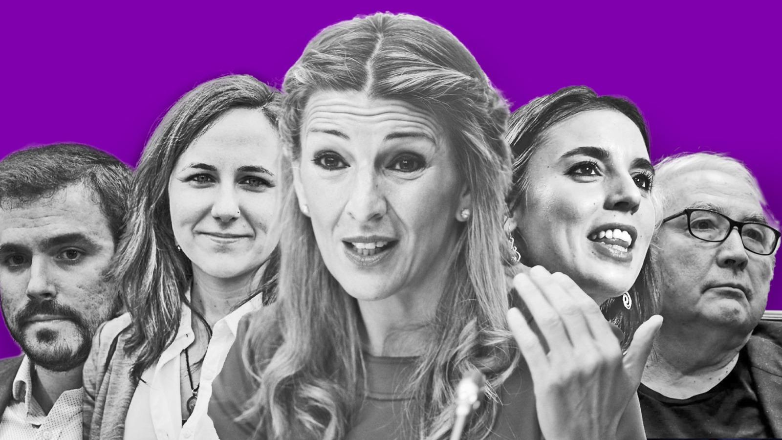 Los cinco ministros de Podemos