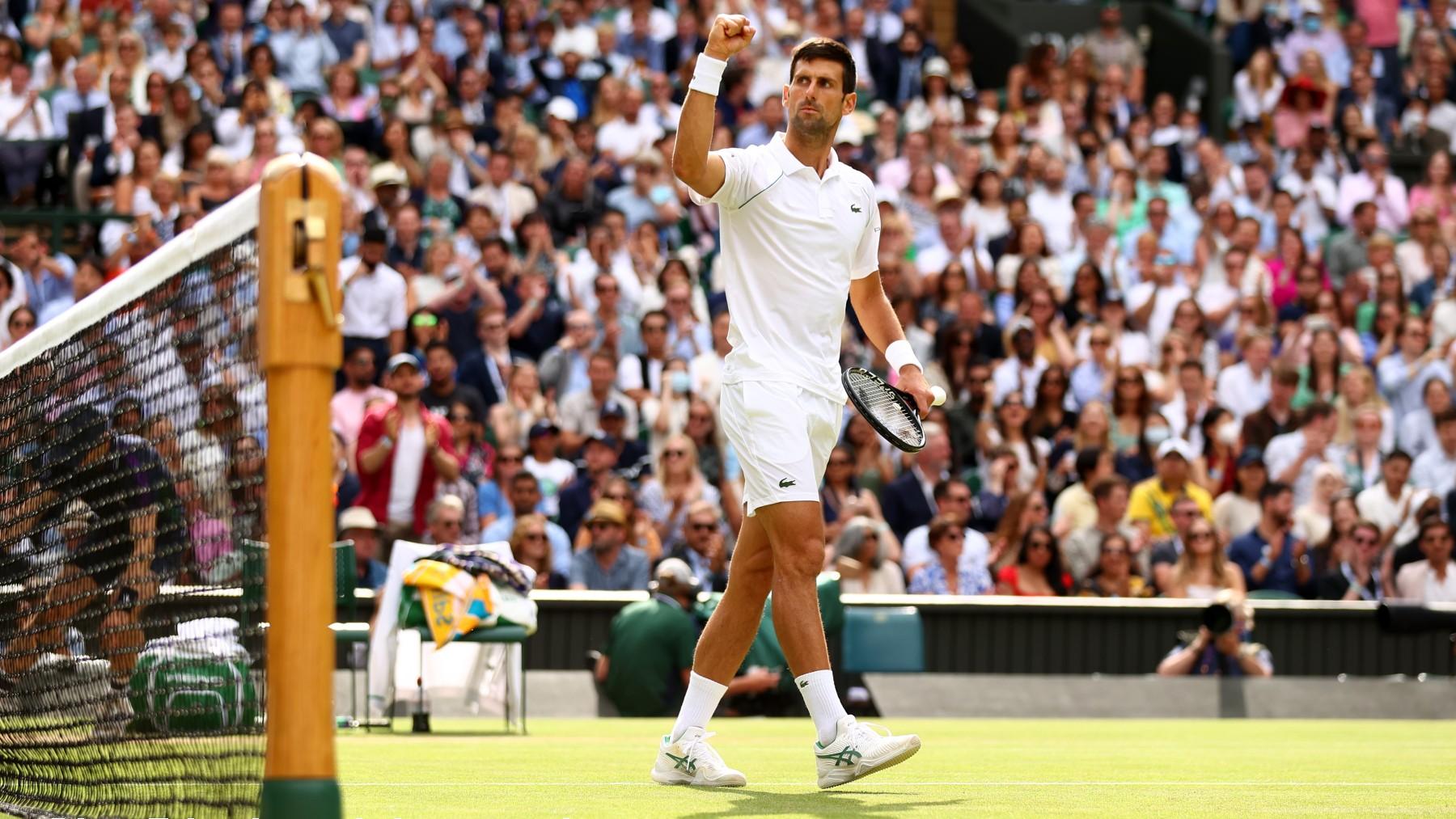 Djokovic celebra un punto en la final. (Getty)