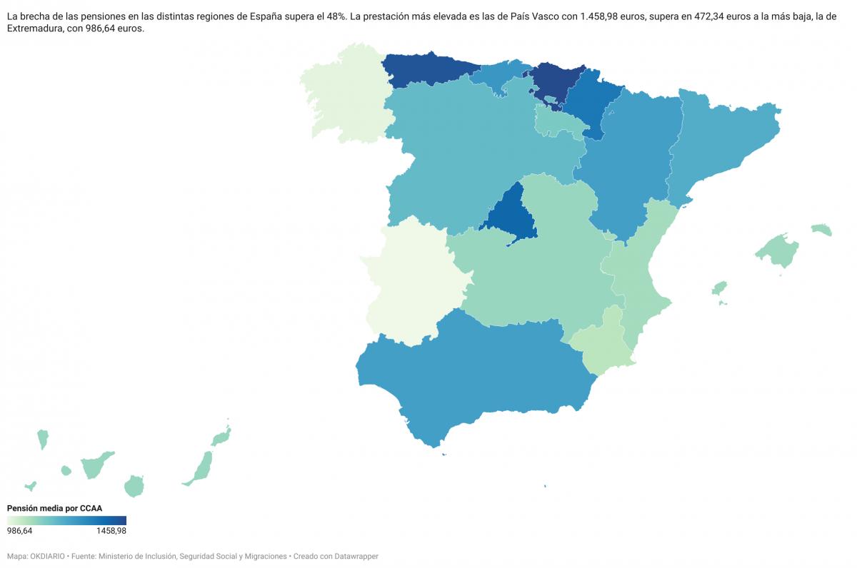 Mapa de las pensiones.