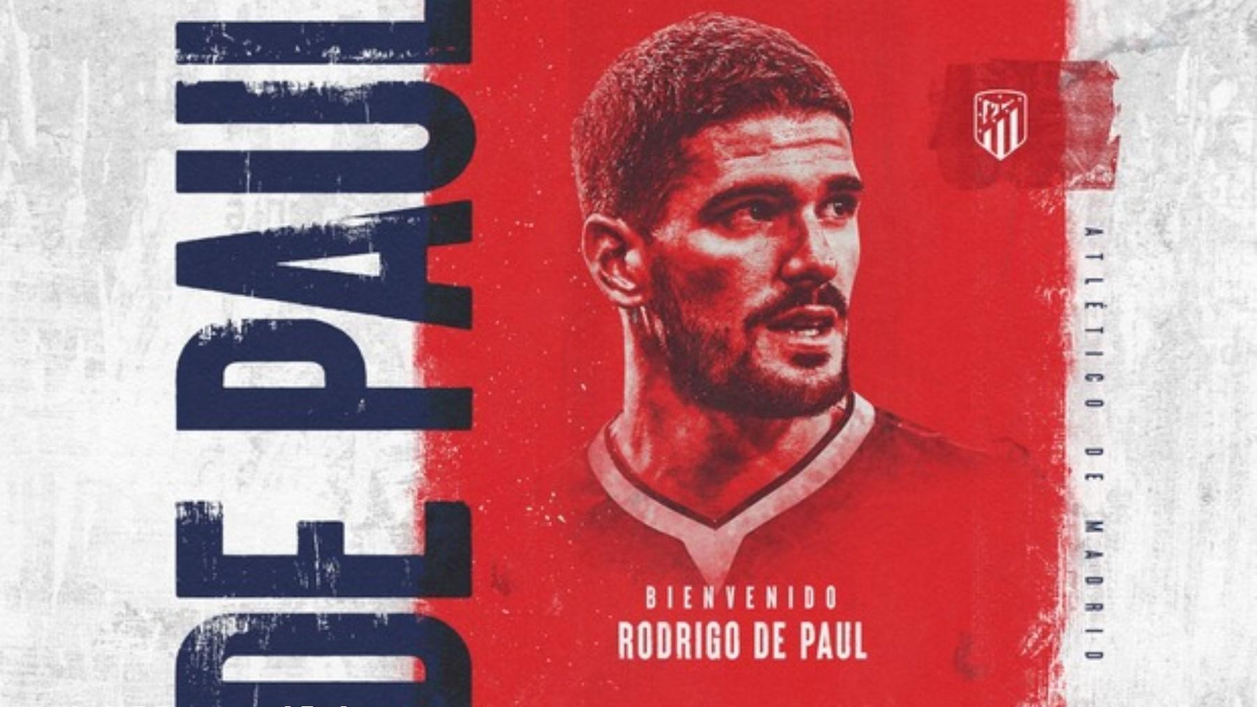 Rodrigo de Paul ya es nuevo jugador del Atlético. (atleticodemadrid.com)