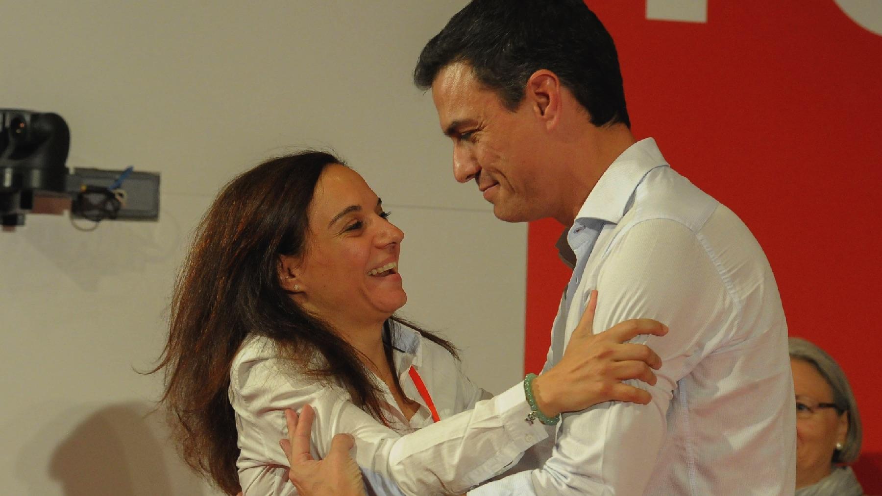Pedro Sánchez y Sara Hernández.