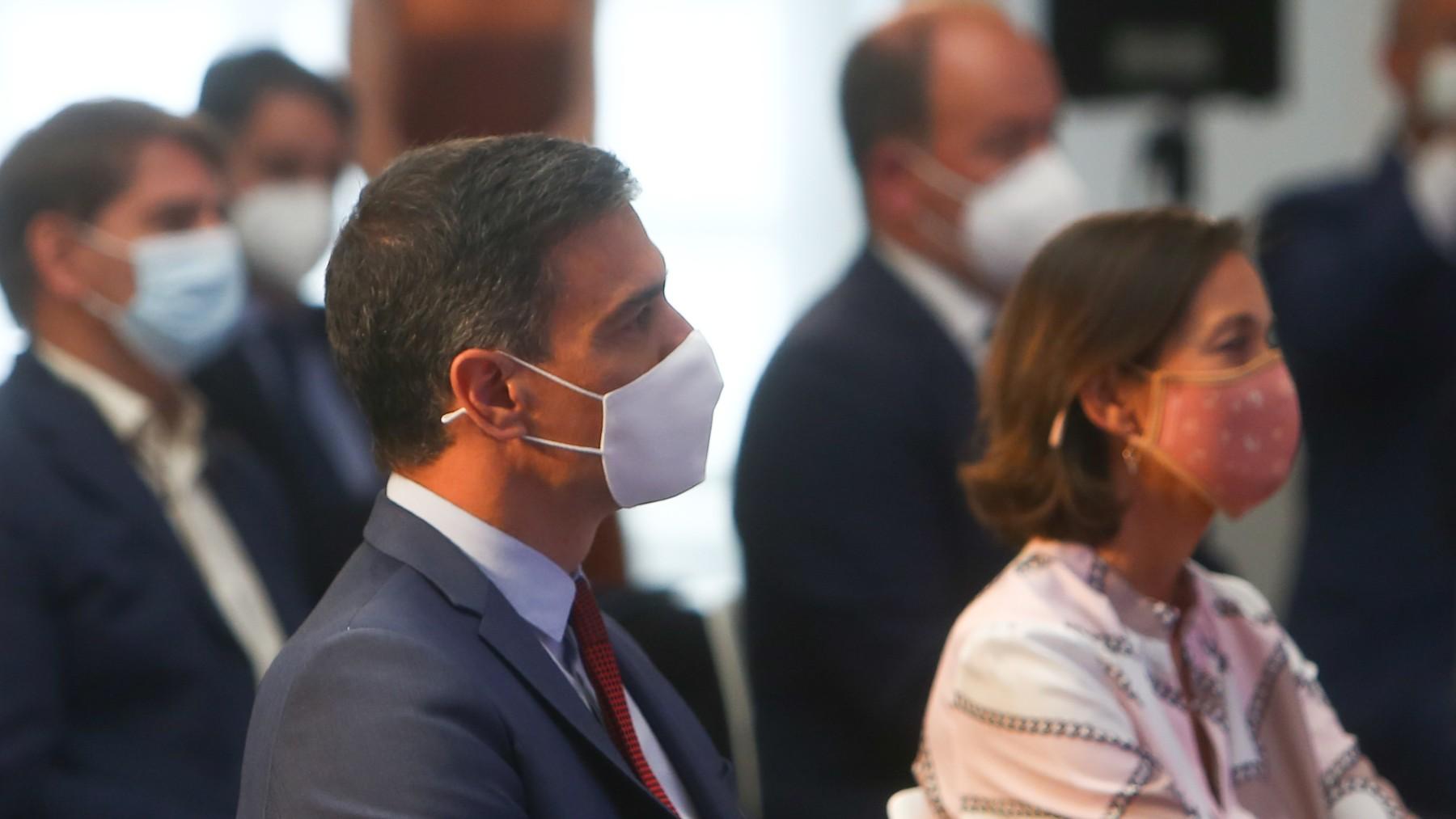 Pedro Sánchez y Reyes Maroto