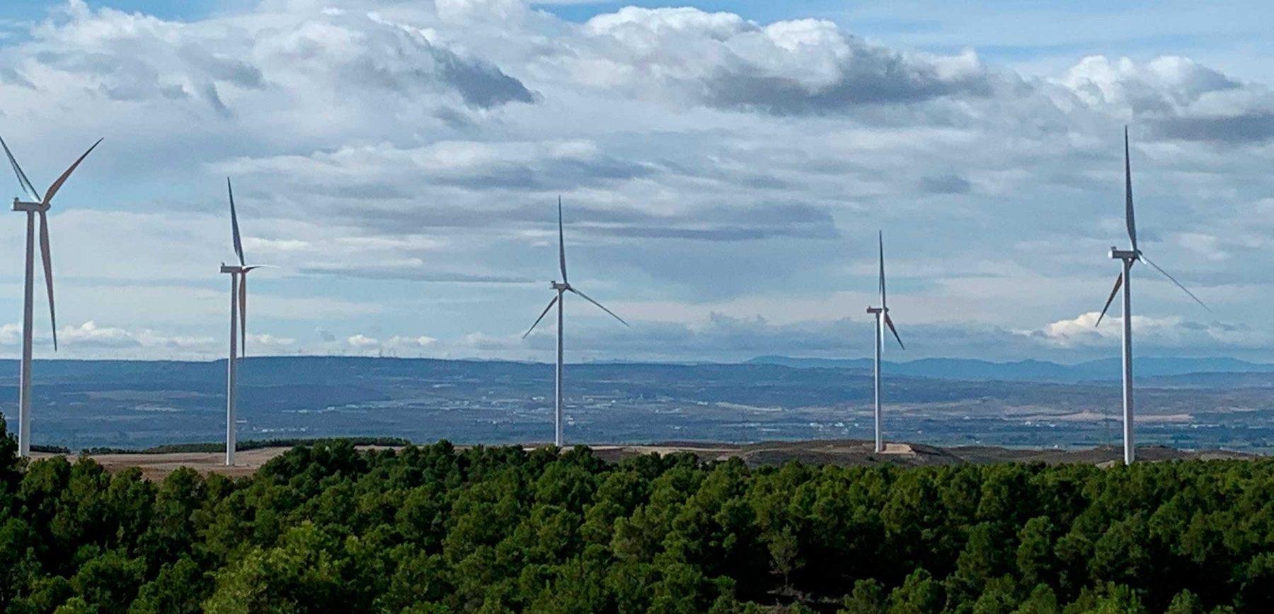 Molinos de viento de Endesa.