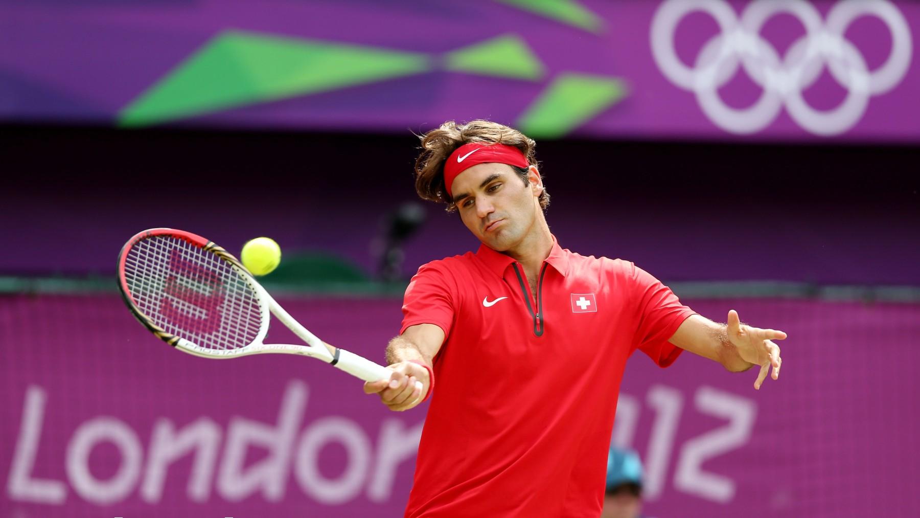 Federer, en los Juegos de Londres. (Getty)