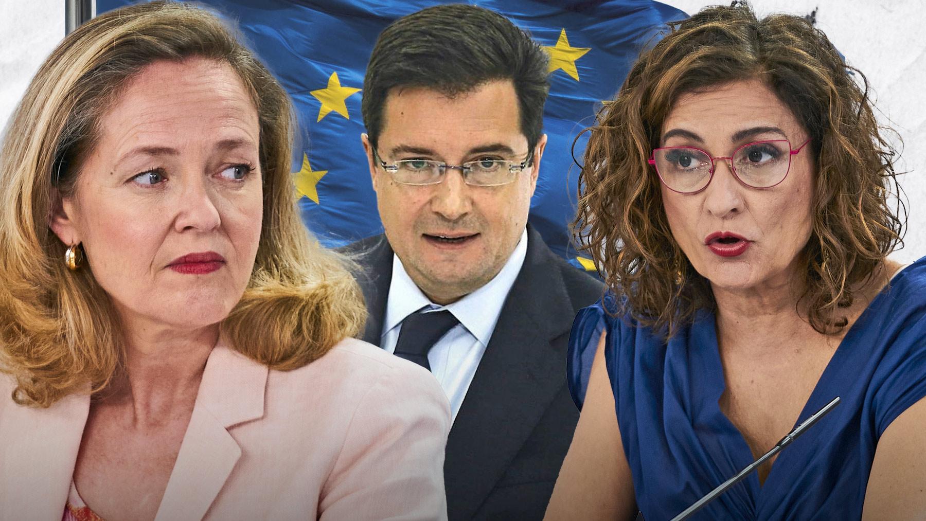 Nadia Calviño, Óscar López y María Jesús Montero.