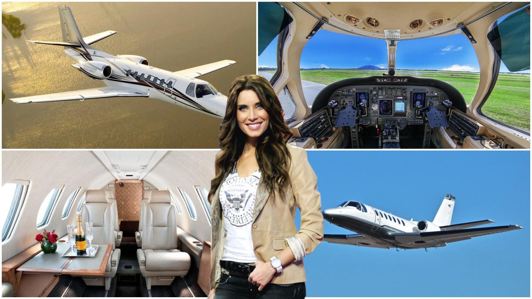 Pilar Rubio y el avión privado.