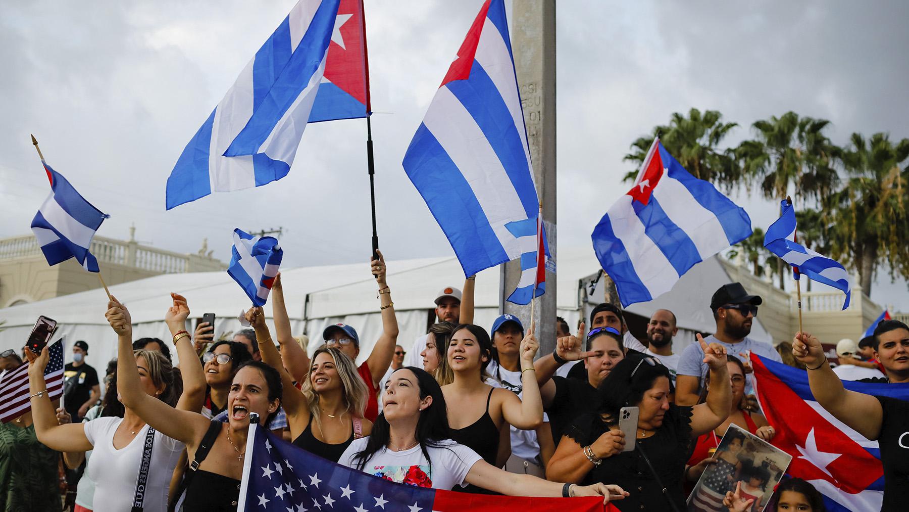 Protestas a favor de una Cuba libre.