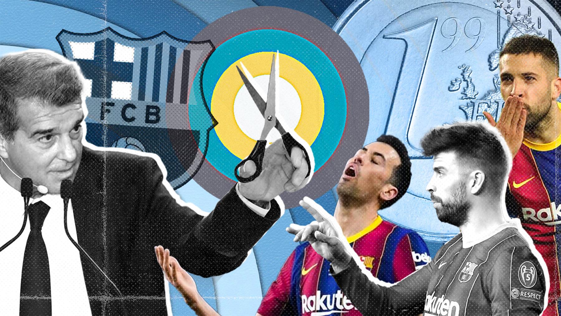 Laporta prepara un nuevo tijeretazo a Busquets, Piqué y Jordi Alba.