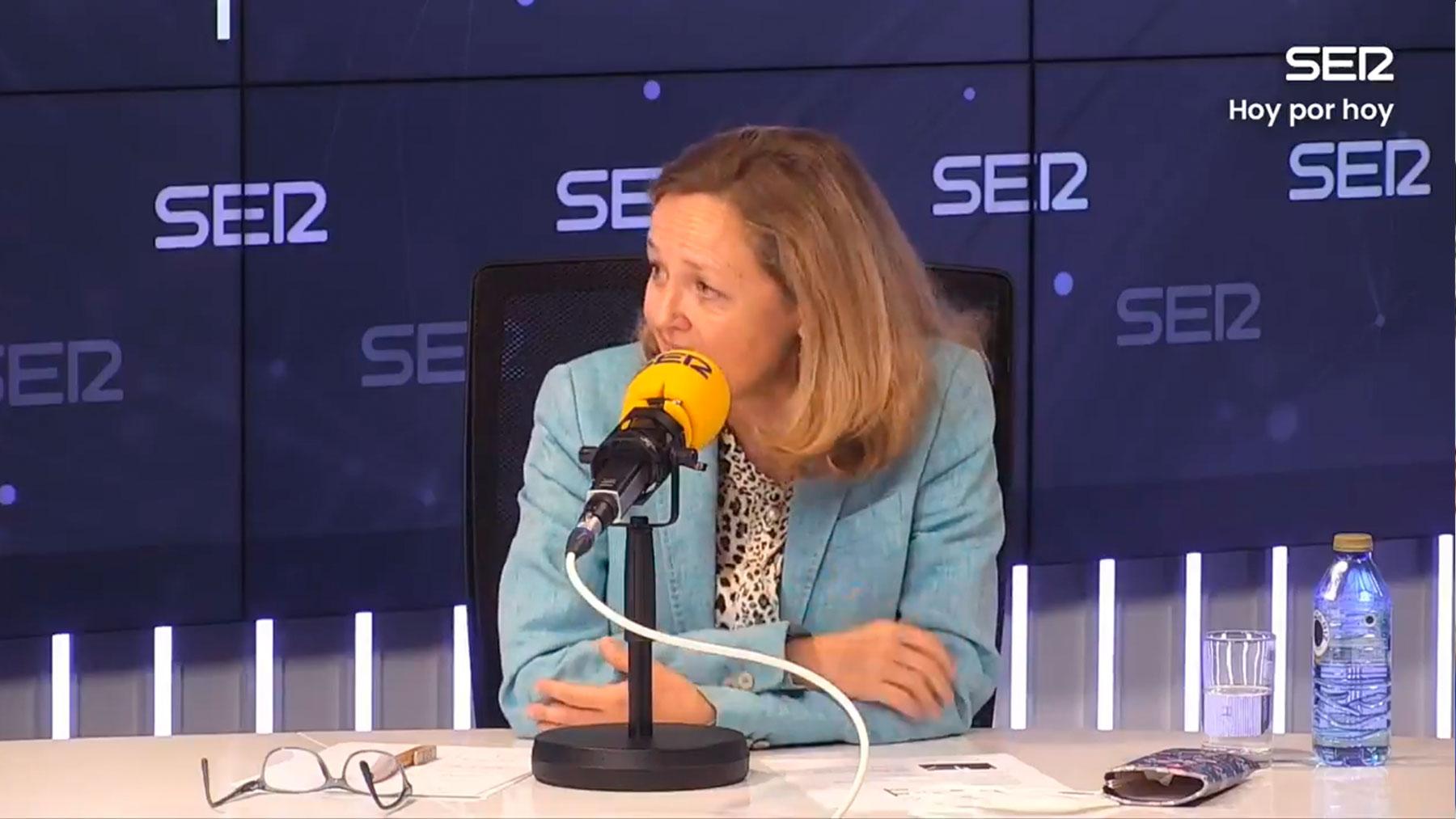 Nadia Calviño en la 'Cadena SER'.