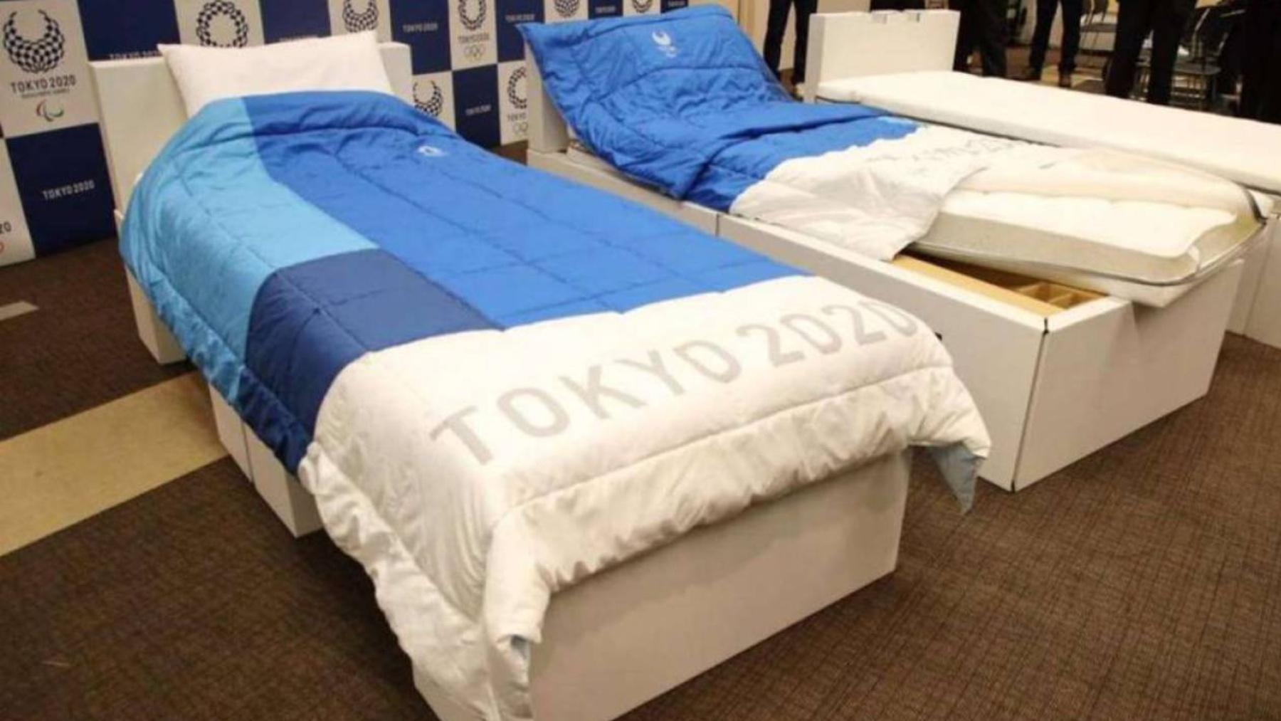 Las camas de los Juegos Olímpicos.