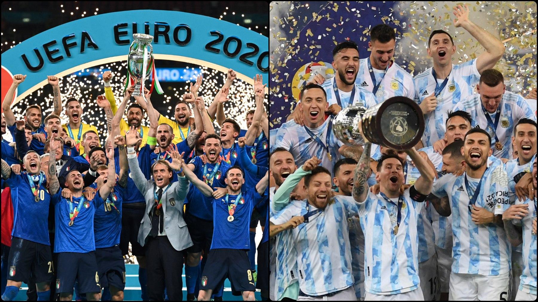 Italia, campeón de la Eurocopa, y Argentina, campeón de la Copa América.