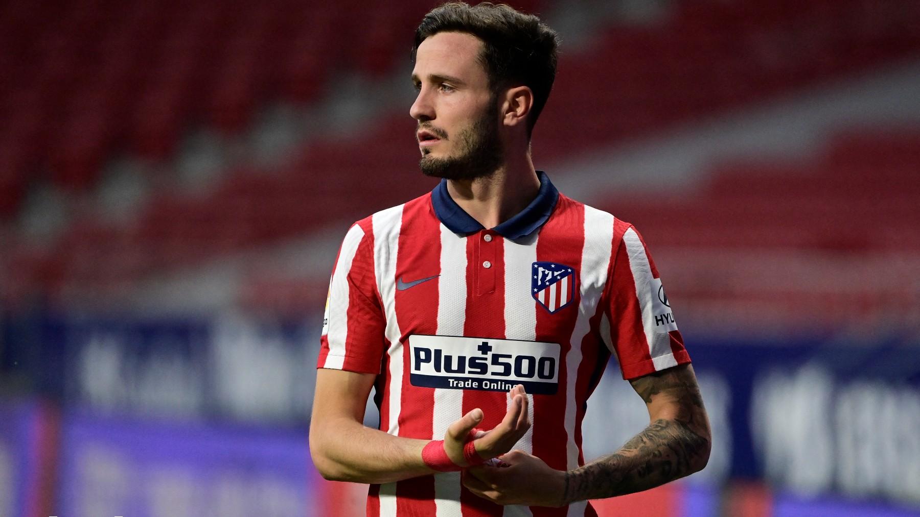 Saúl Ñíguez, durante un partido con el Atlético de Madrid. (AFP)