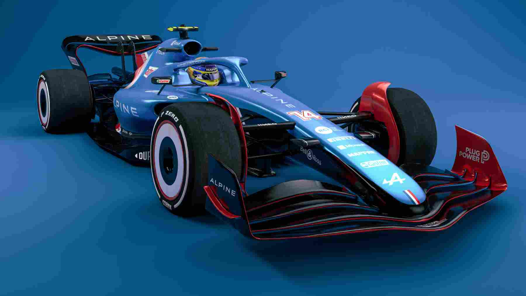 Así podría ser el coche Alpine de Fernando Alonso en 2022. (@F1)