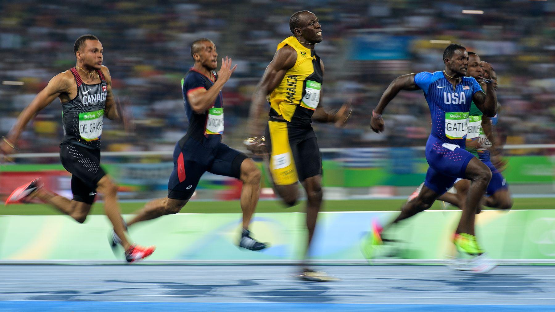 Bolt, en la carrera de 100 metros de Río 2016. (Getty)