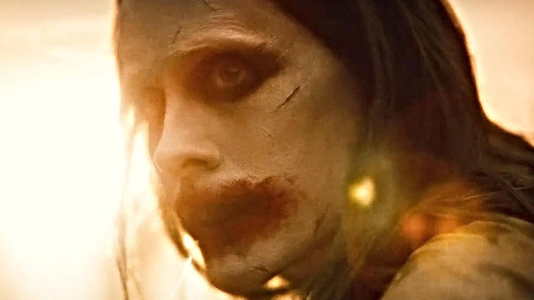 El joker en «La liga de la justicia» (Warner Bros)