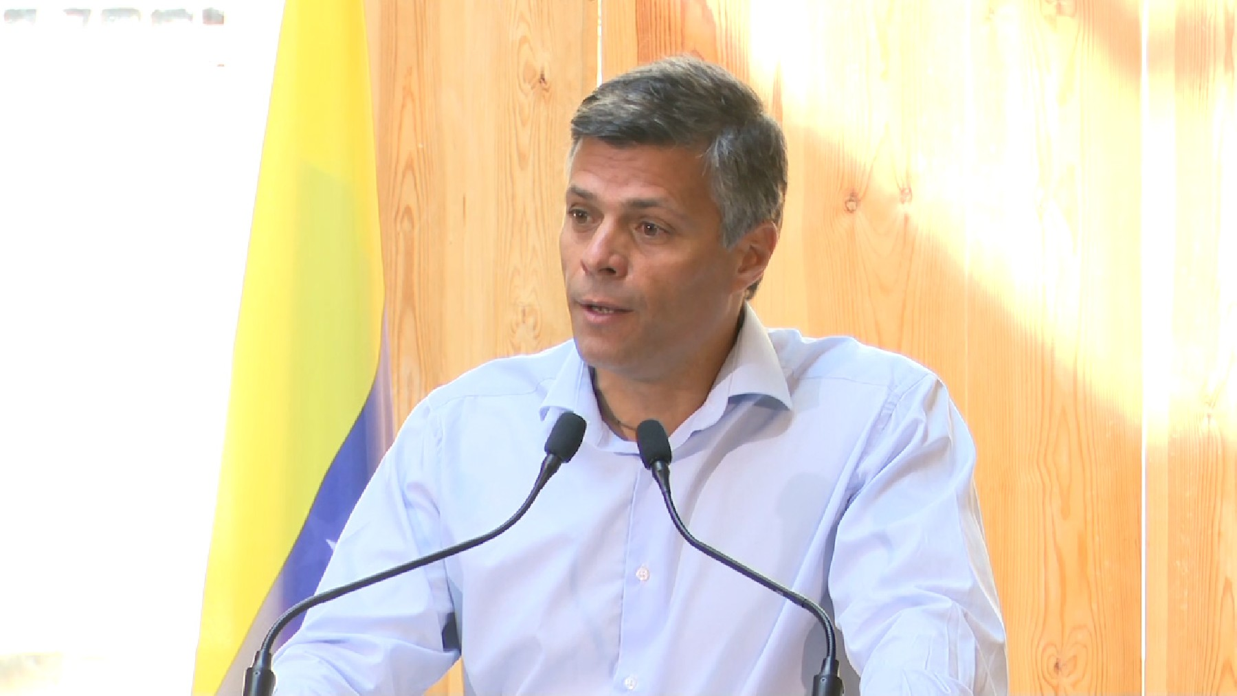 El dirigente opositor venezolano Leopoldo López.