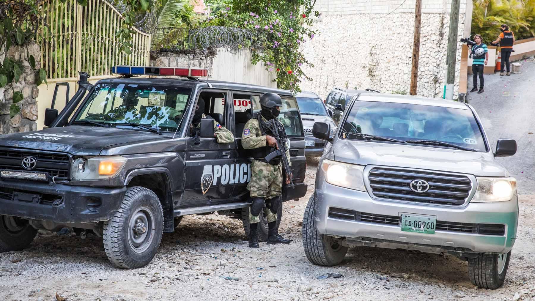 La Policía de Haití en una investigación. Archivo.