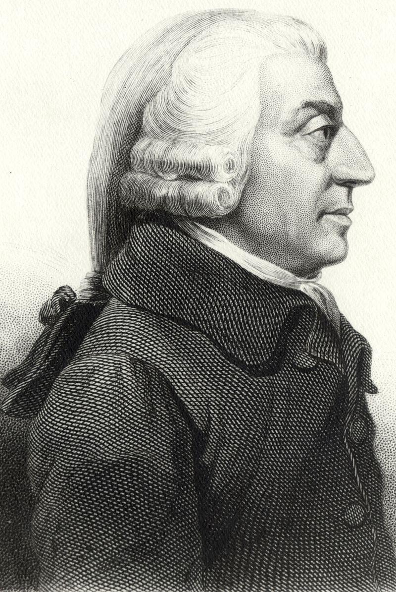 8 frases con enseñanza de Adam Smith en el día de su muerte