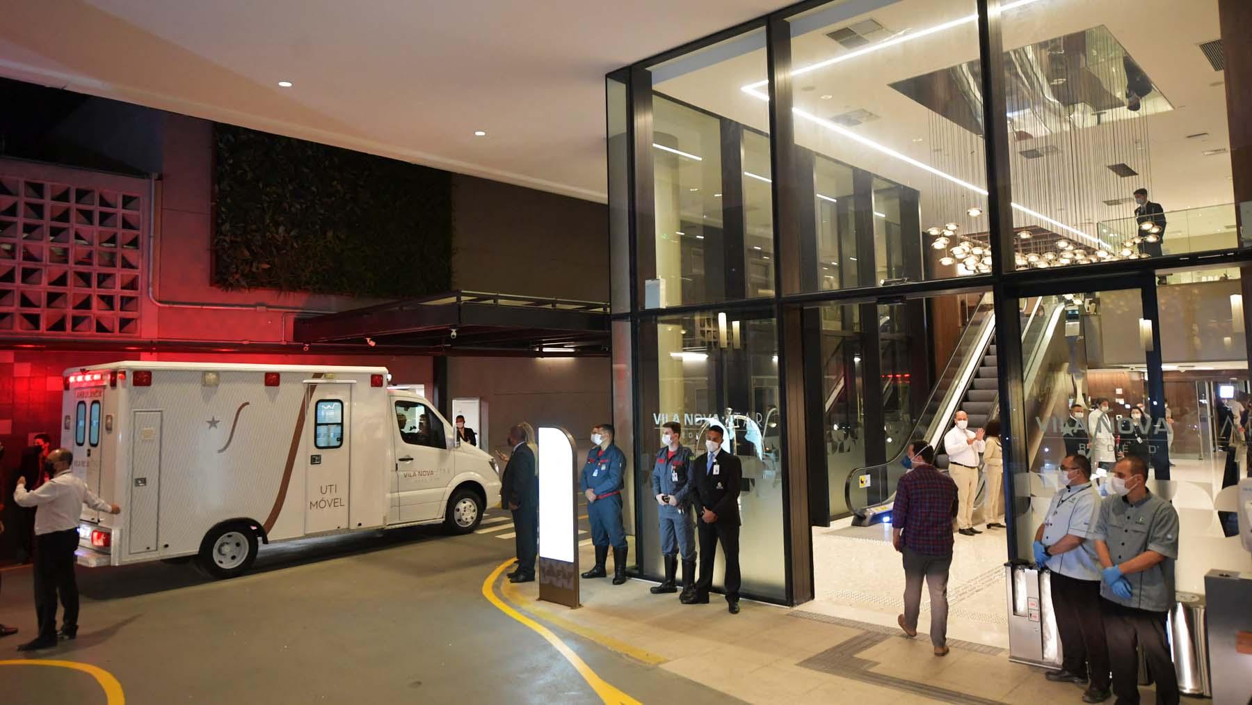 Hospital en Sao Paulo donde fue ingresado Jair Bolsonaro (Foto: AFP).