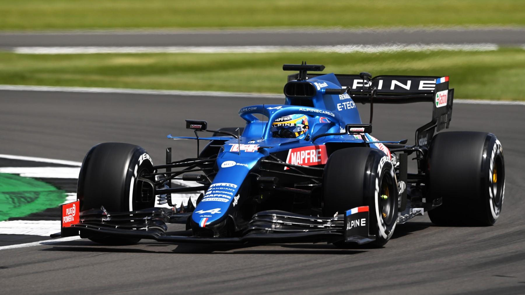 Fernando Alonso, en el GP de Gran Bretaña. (Getty)