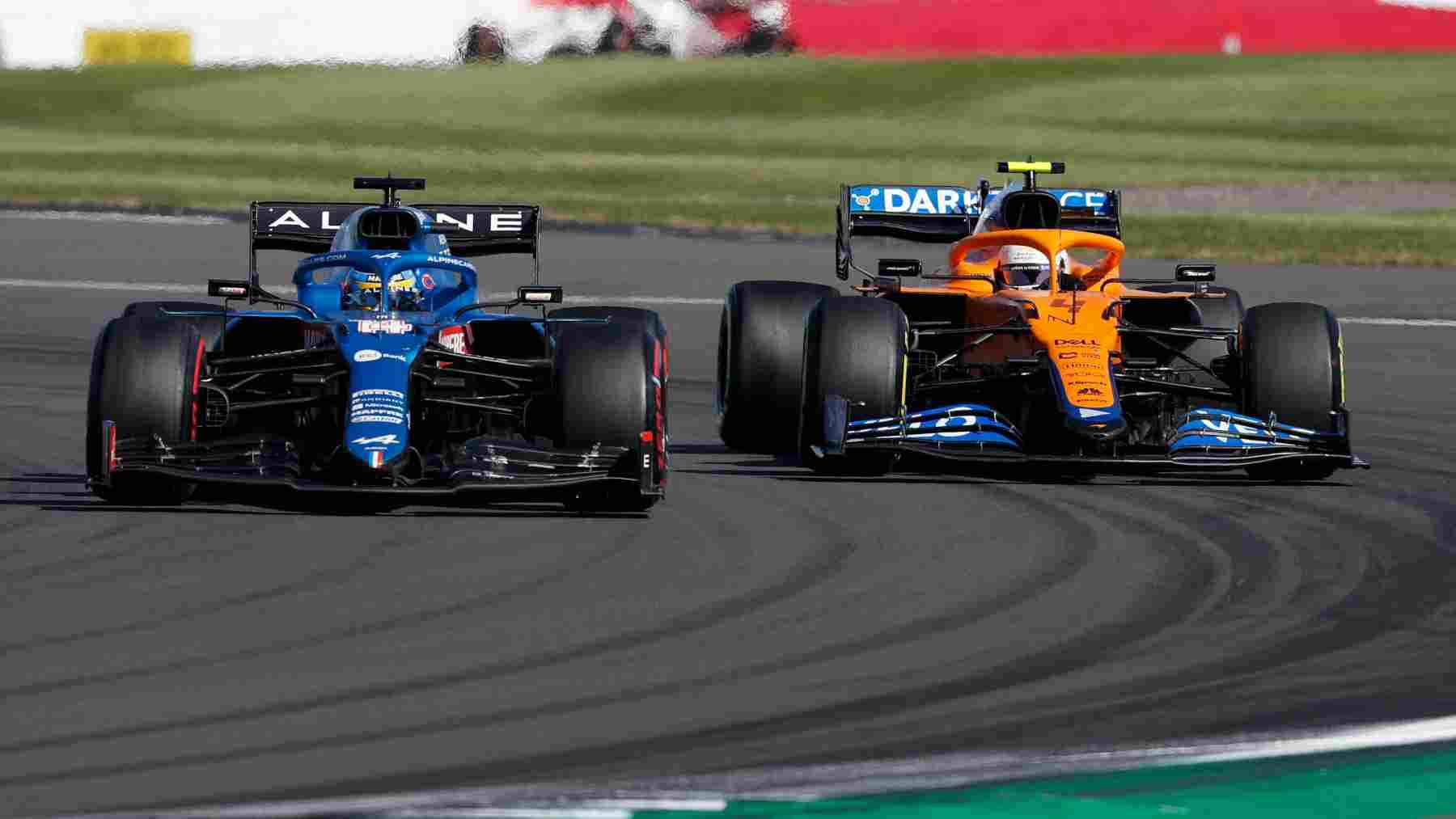 Fernando Alonso durante el Gran Premio de Gran Bretaña de Fórmula 1 en Silverstone. (AFP)