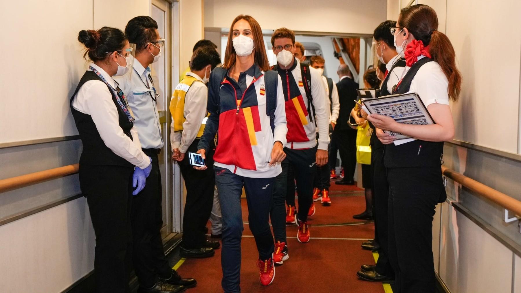 El equipo olímpico español a su llegada a Tokio. (COE)