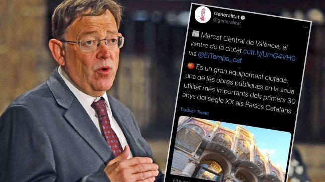 La Generalitat de Ximo Puig sitúa el Mercado Central de Valencia como parte de los «Països Catalans»