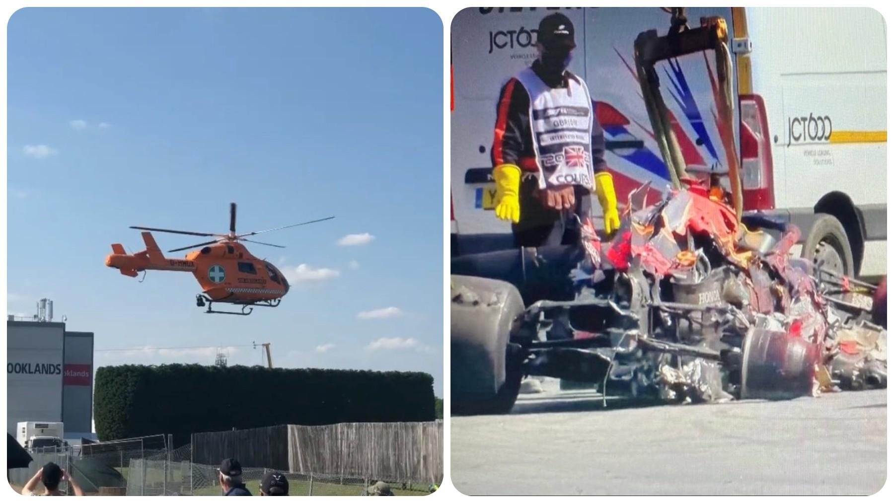 Max Verstappen, trasladado en helicóptero al hospital tras su accidente.