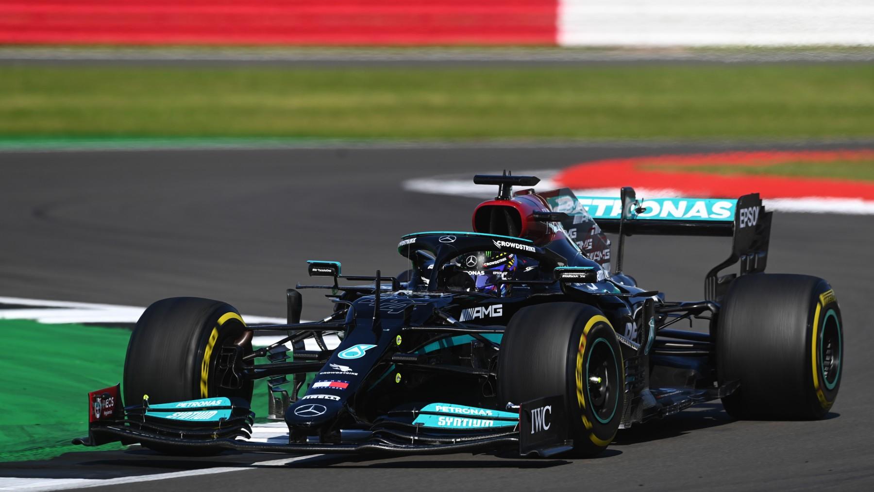 Lewis Hamilton se llevó la victoria en el Gran Premio de Gran Bretaña. (Getty)