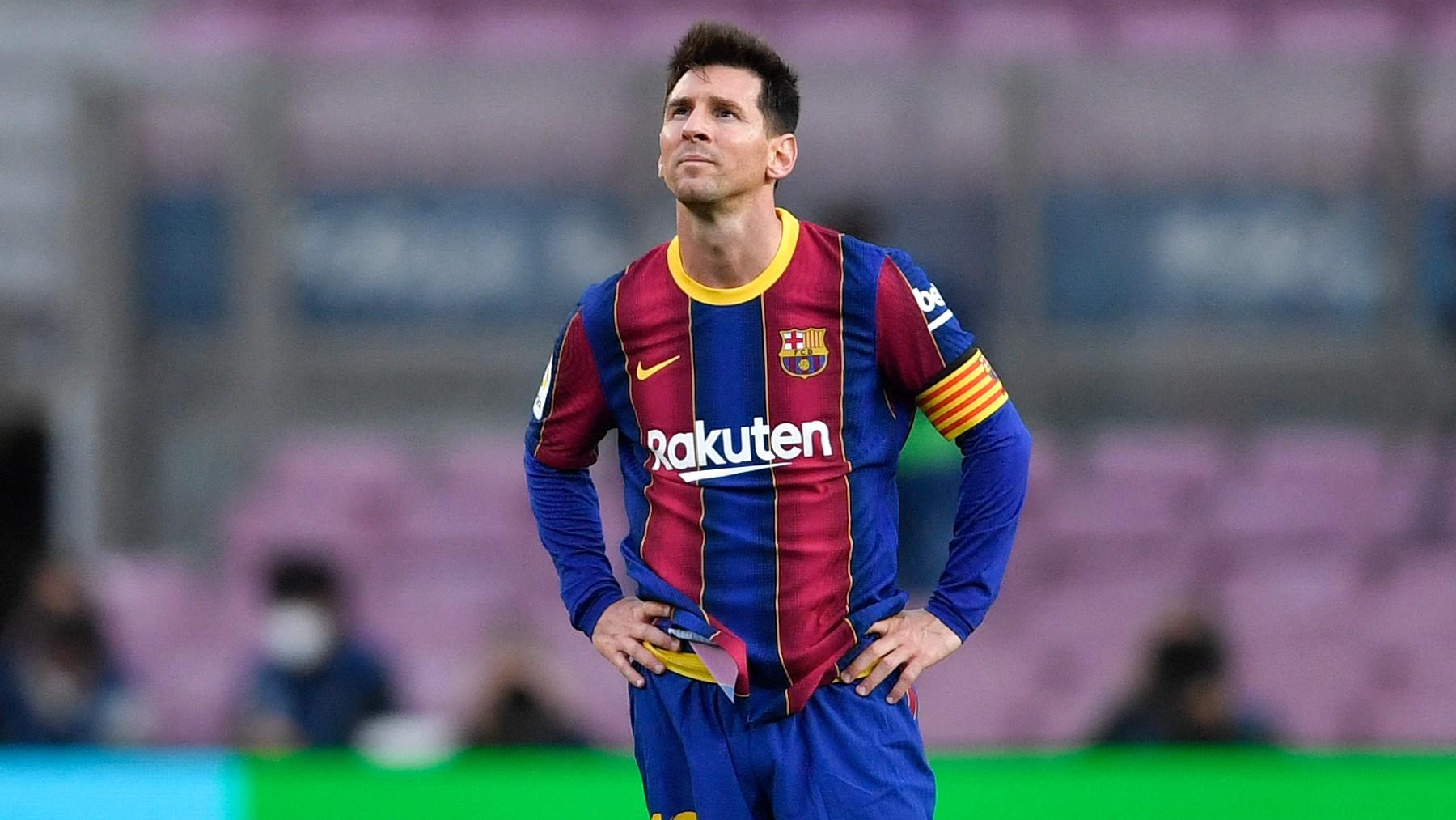 Leo Messi, durante un partido con el FC Barcelona (AFP).
