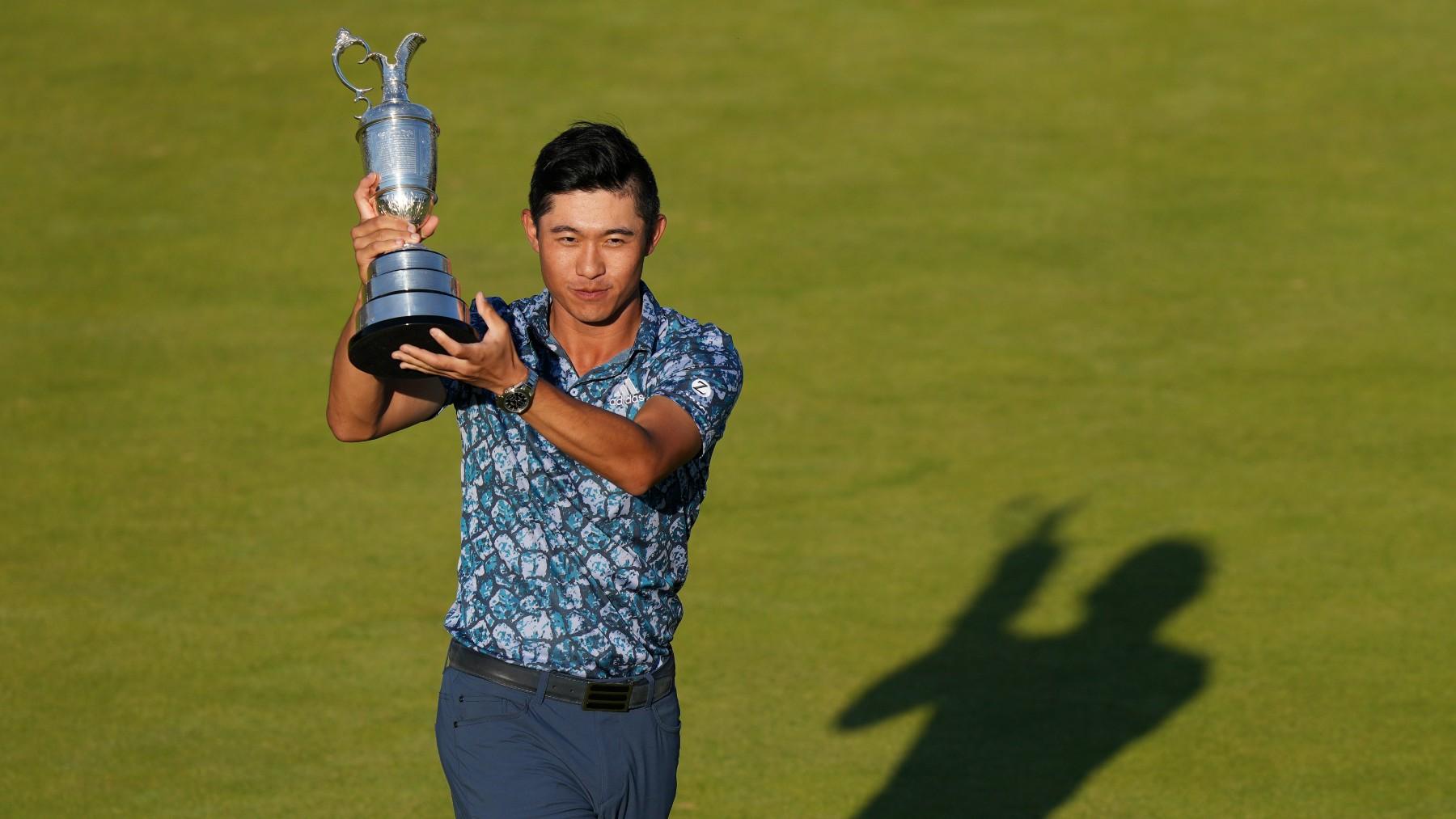 Morikawa, con el trofeo de campeón del British Open. (Getty)