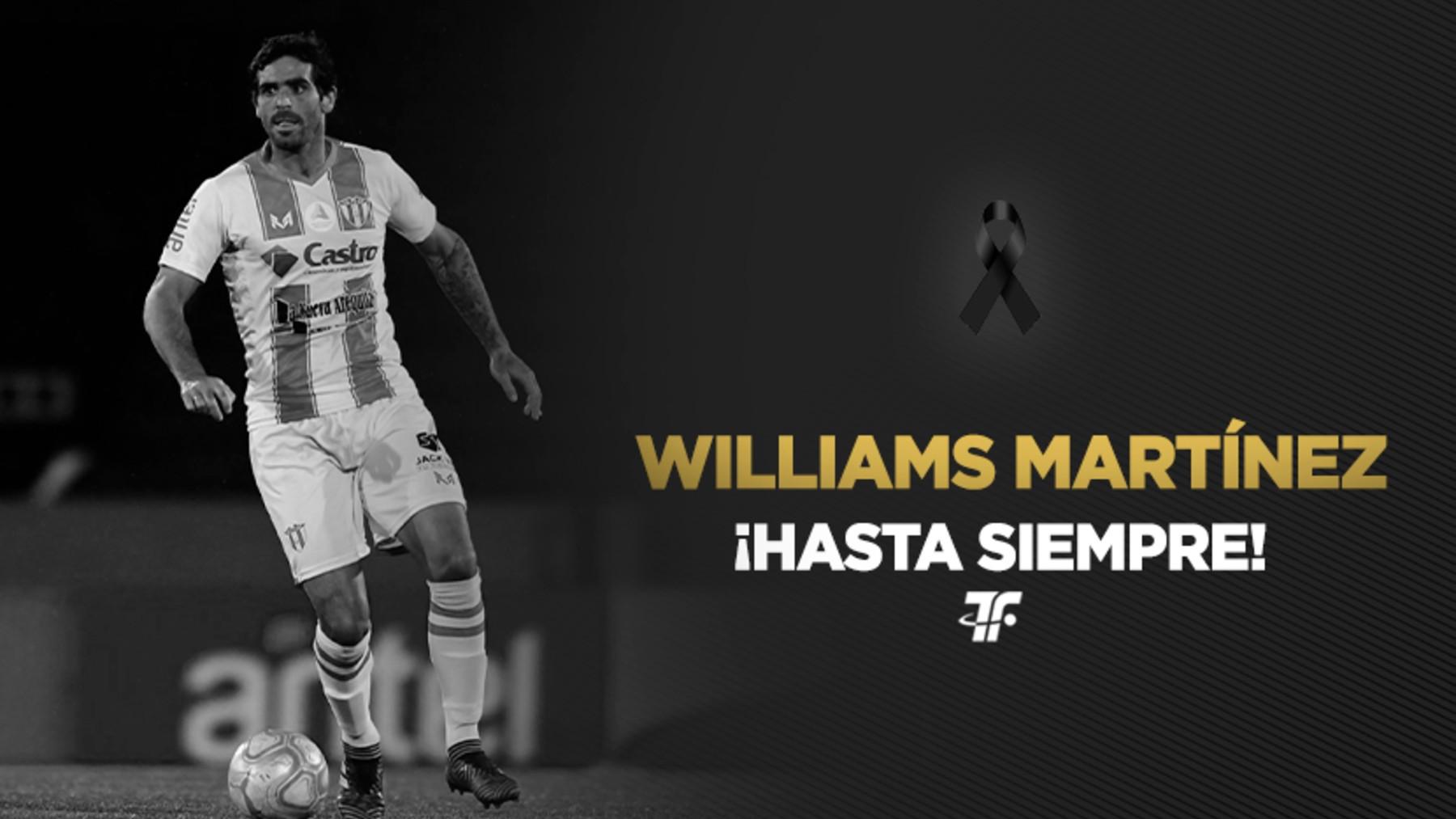Una de las despedidas desde Uruguay a Williams Martínez. (@tenfieldoficia)