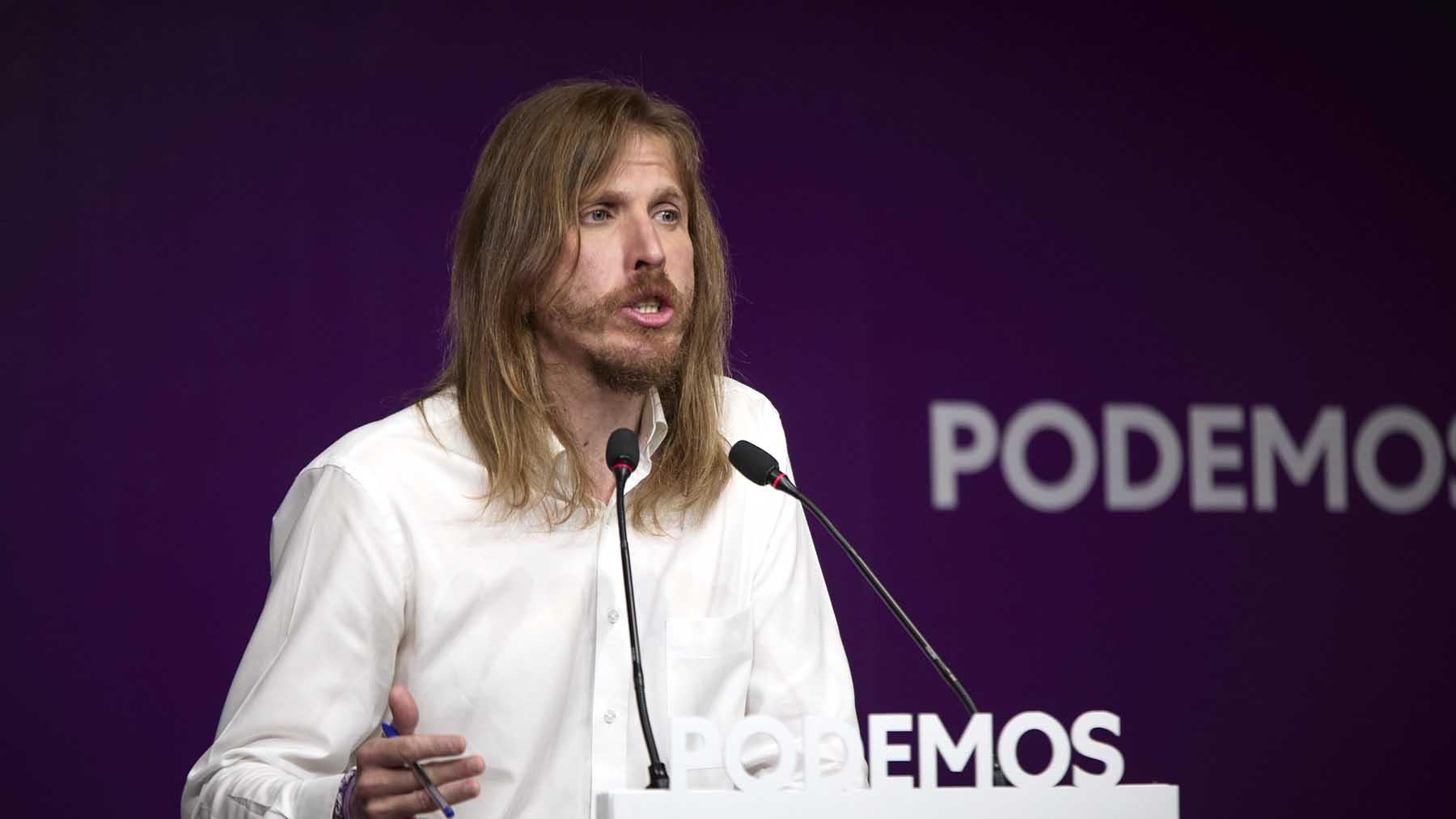 El portavoz de Podemos, Pablo Fernández. Foto: Europa Press.