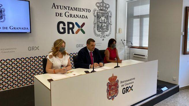 Portavoces de Vox en Granada.