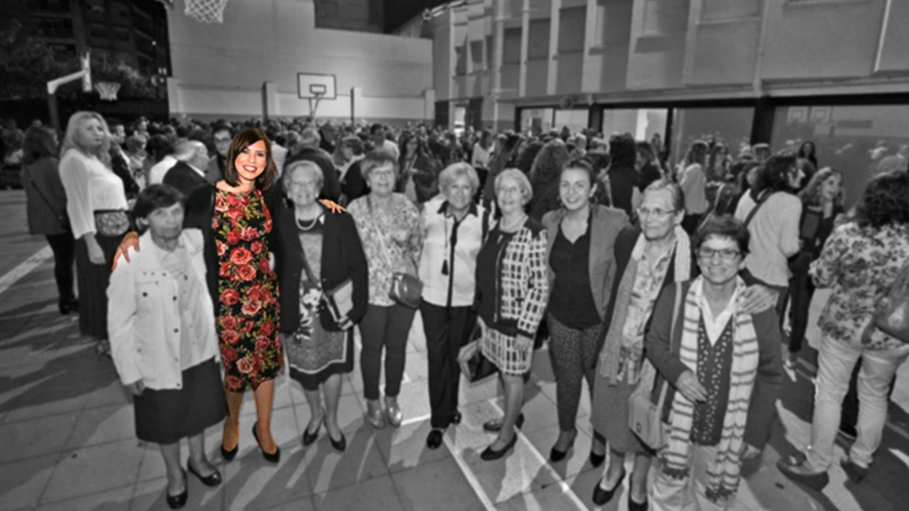 La ministra Diana Morant en su antiguo colegio.