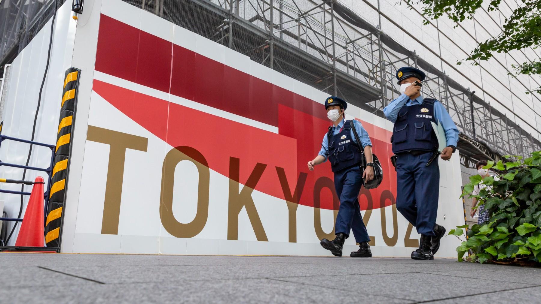 Un cartel de los Juegos Olímpicos de Tokio. (Getty)