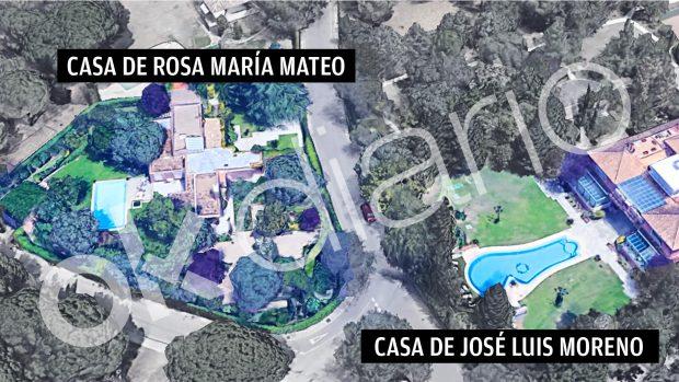 Las viviendas de Rosa María Mateo y José Luis Moreno.