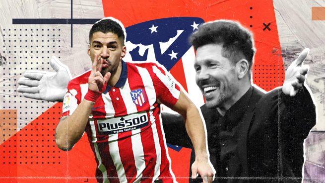 Simeone mima a Luis Suárez