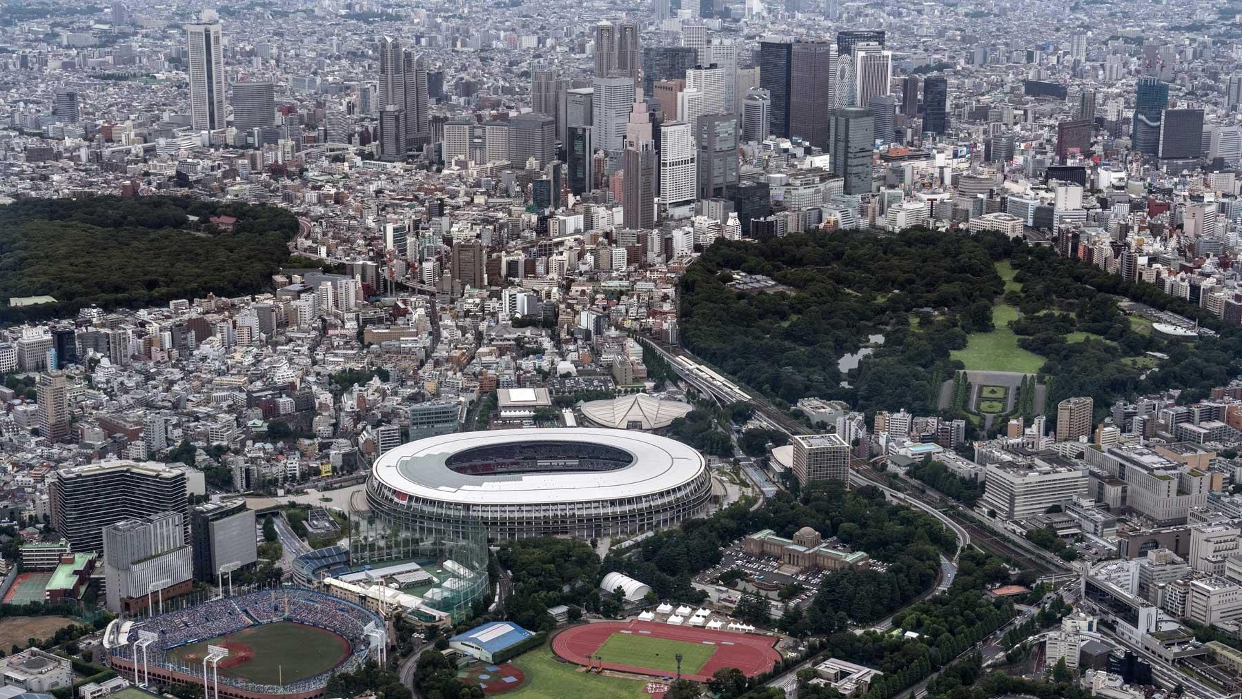 Vistas del Estadio Olímpico de Tokio (Getty)