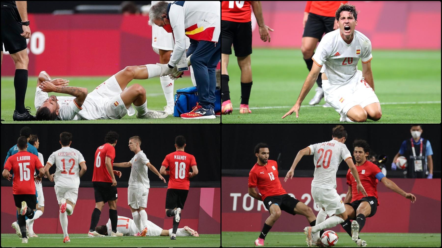 Indignación entre la selección española olímpica con la dureza de Egipto y con el arbitraje.