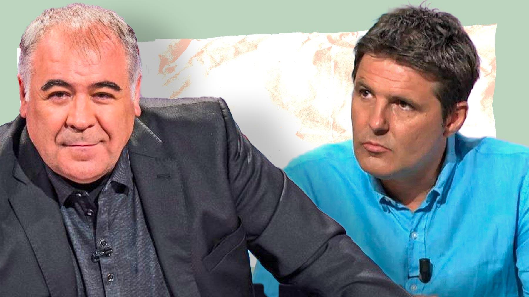 Antonio García Ferreras, conductor de 'Al Rojo Vivo' y Jesús Cintora de 'Las cosas claras'.