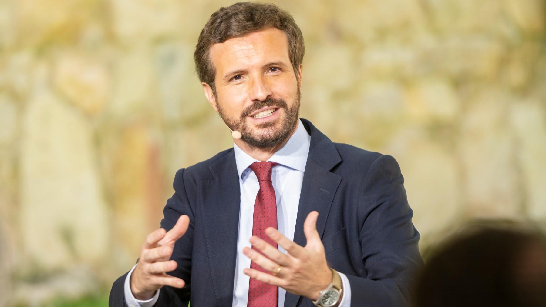 El líder del PP, Pablo Casado. (Foto: Europa Press)
