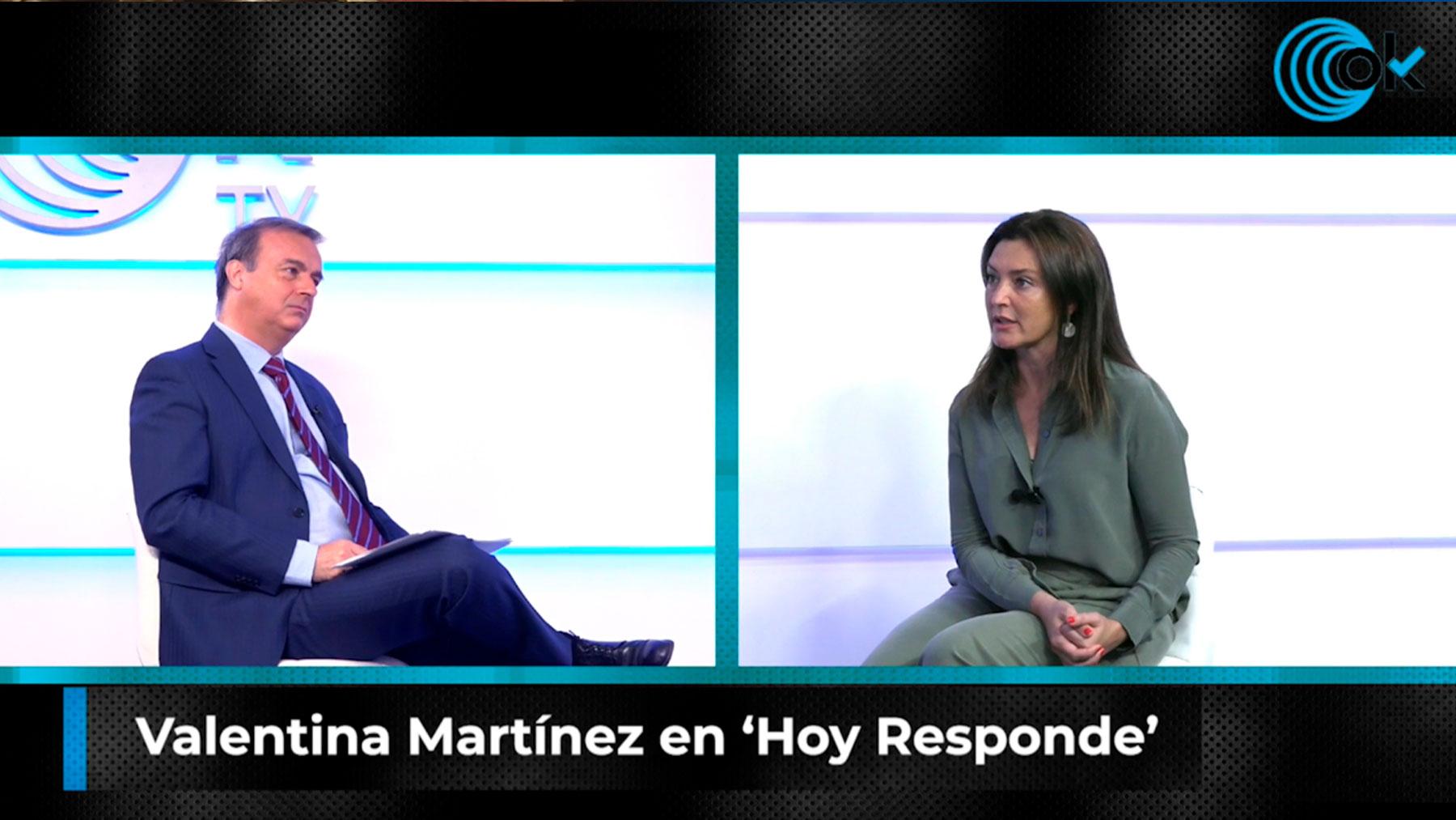 Valentina Martínez en Hoy Responde