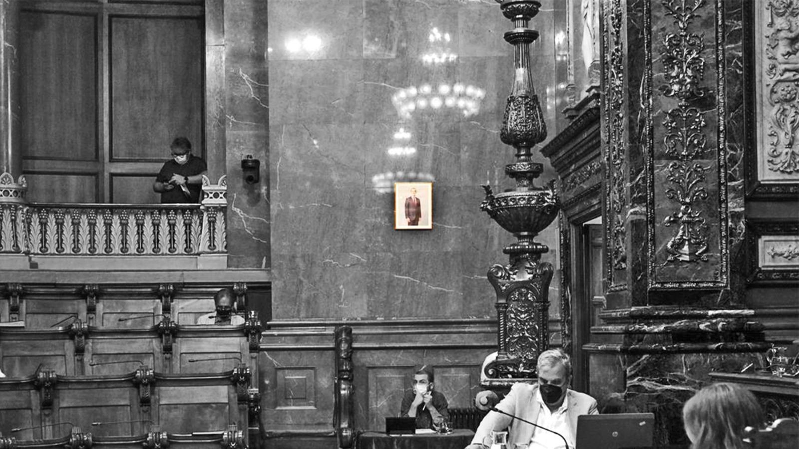 Foto del Rey en el Ayuntamiento de Barcelona.