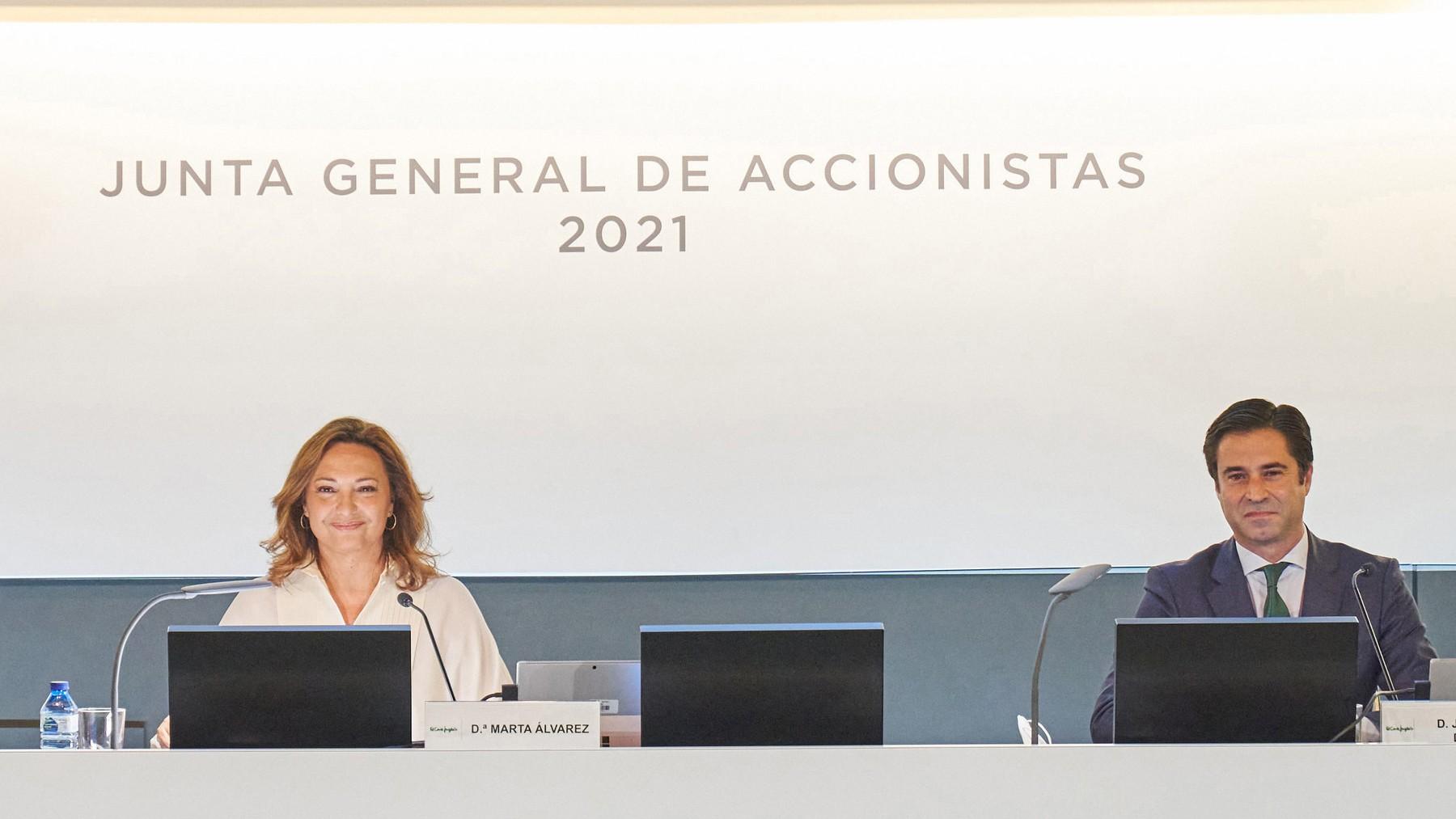 La presidenta de El Corte Inglés, Marta Álvarez
